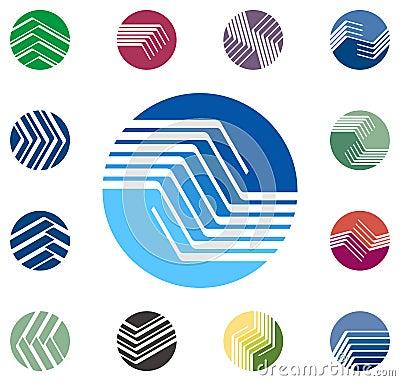 Projekta loga round wektorowy szablon