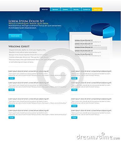 Projekta szablonu strona internetowa