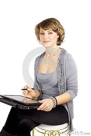 Projektanta laptopu kobieta