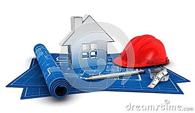 Projet de la maison 3d images libres de droits image for Projet 3d maison