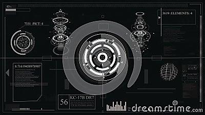 Projeto de relação futurista HUD-tecnologia para cobrir os jogos video e criadores hologram video estoque