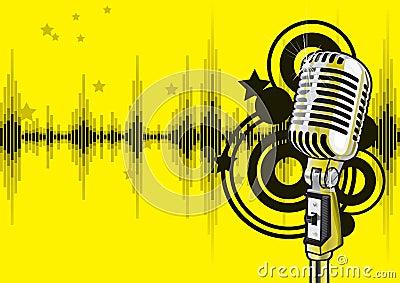 Projeto do evento da música (vetor)