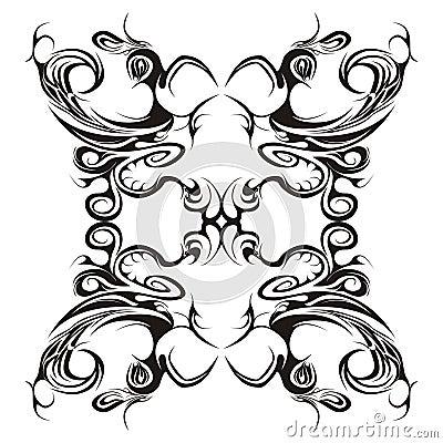 Projeto floral simétrico