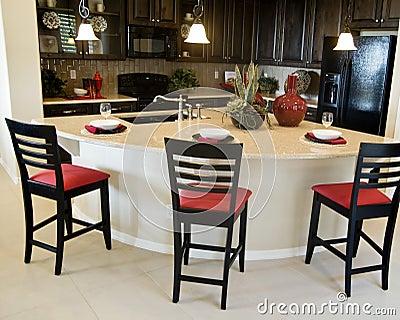 Projeto interior da cozinha moderna