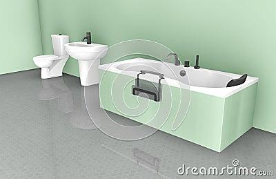 Projeto interior do banheiro