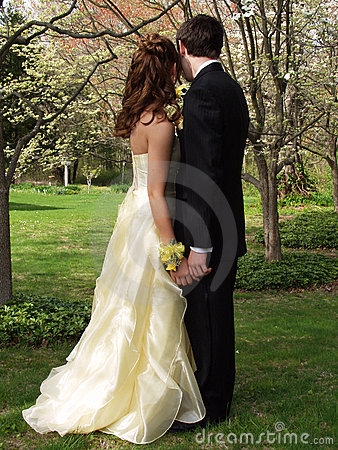 Free Prom Couple Royalty Free Stock Images - 744389