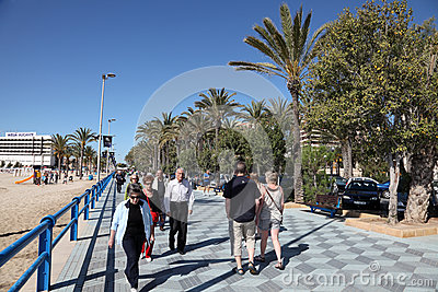 Promenade of Alicante, Spain Editorial Stock Image