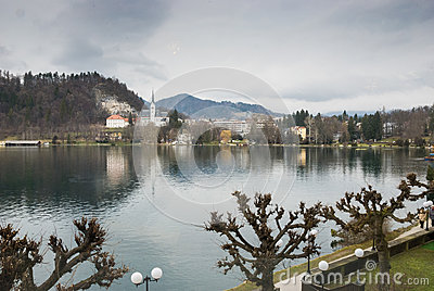 Promenade along Lake Bled