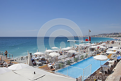 Promenade des Anglais Editorial Stock Photo