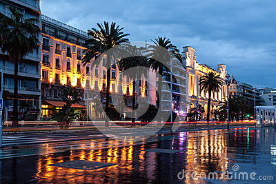 Promenade des Anglais in Nice France Editorial Stock Image