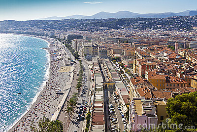 Promenade des Angles in Nice, France