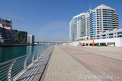 Promenade At Dubai Marina Royalty Free Stock Photography - Image: 13345017