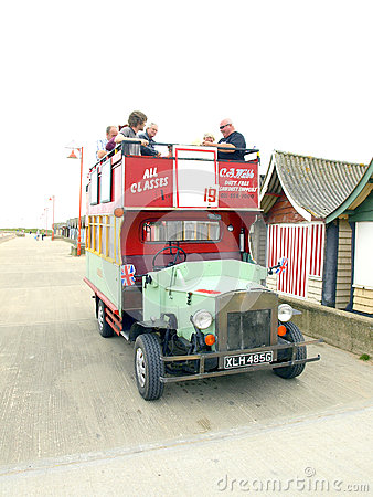 Promenade Fun Bus, Sutton-on Sea. Editorial Image