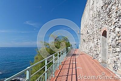 Promenade in Nervi, Genova