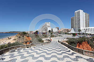 Promenade in Portimao, Portugal Editorial Stock Image