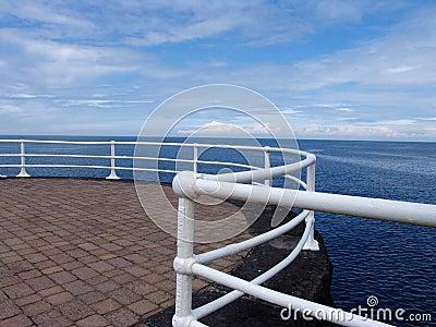 Promenade railings on seafront