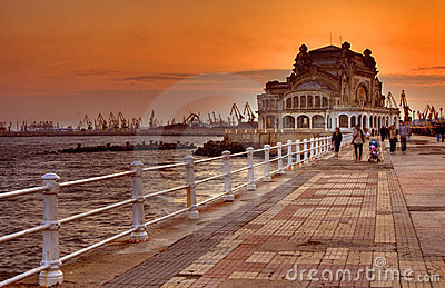 Promenade at sunset