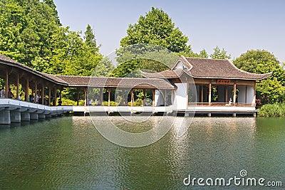 Promenade in West Lake ,Hangzhou China