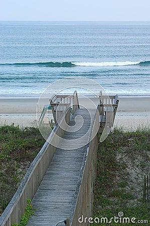Promenade zum Strand.