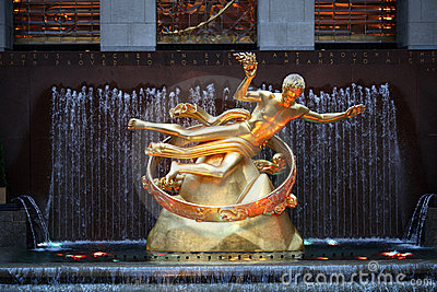Prometheus in New york Editorial Stock Photo