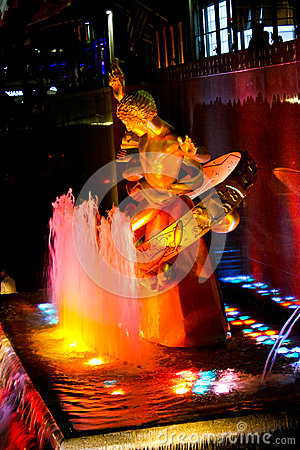 Prometheus Statue at Rockefeller Center, NYC Editorial Stock Photo
