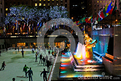 Prometheus Statue at Rockefeller Center, NYC Editorial Stock Image
