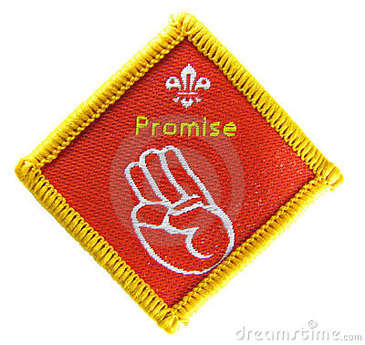 Promise - Scout activity badge Editorial Stock Image