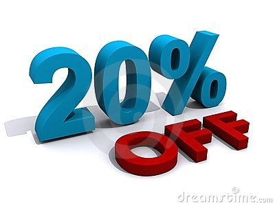 Promotion 20  off