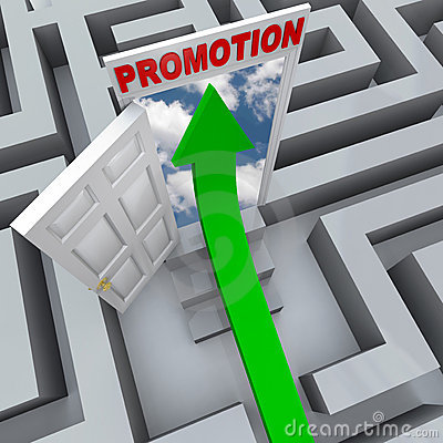 Promotion in Maze - Open Door to Career Success