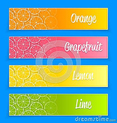 Promotional citrus banners