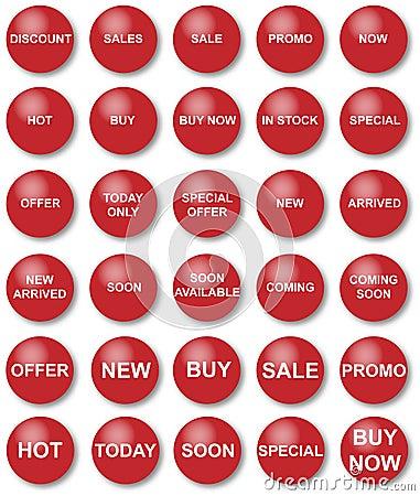 Promotional discount pictogram