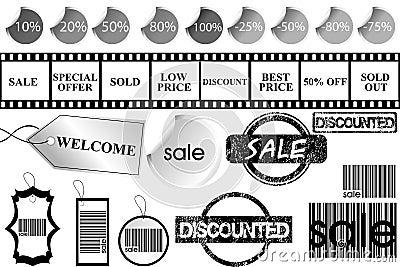 Promotional elements set