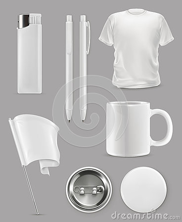 Free Promotional Items Mockup Royalty Free Stock Images - 74445299