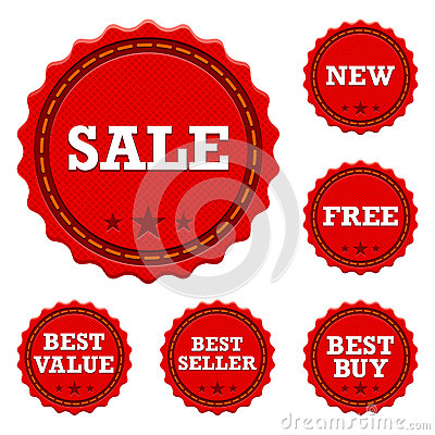Free Promotional Sale Stickers Royalty Free Stock Photo - 26118425