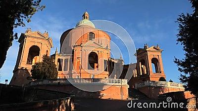 Pronaos et façade de San Luca banque de vidéos