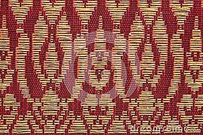 Prong Pattern Thai Silk Stock Photo