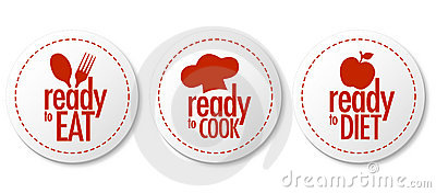 Pronto da mangiare, dieta ed autoadesivi del cuoco