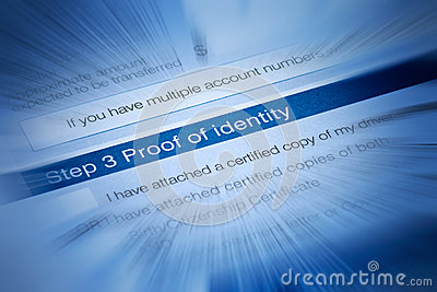Identity Security Theft Document