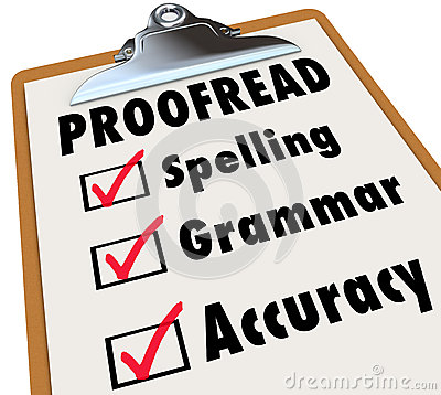 Free Proofread Clipboard Checklist Spelling Grammar Accuracy Stock Photo - 41319110