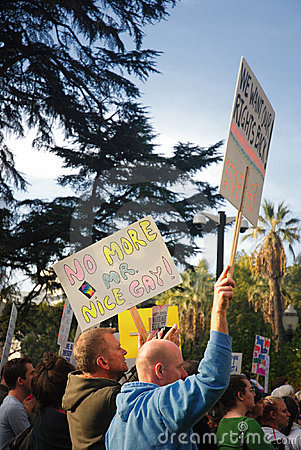 Prop 8 Protest Editorial Image