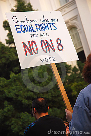 Prop 8 Protest Editorial Photo