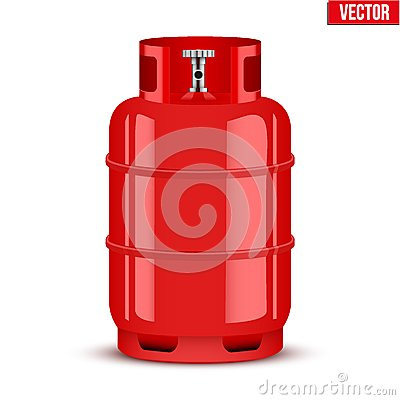 Free Propane Gas Cylinder. Vector Illustration Royalty Free Stock Photos - 47586608