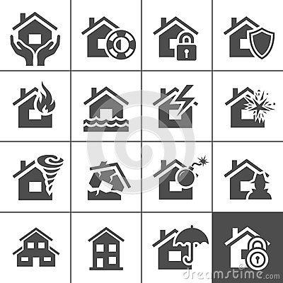 Property insurance icons
