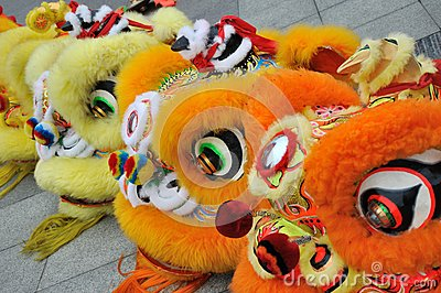 Property lion in Chinese traditional new year