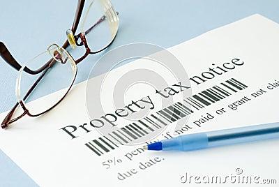 Property tax notice