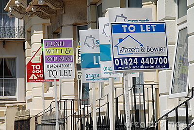 Property to let signage Editorial Photo
