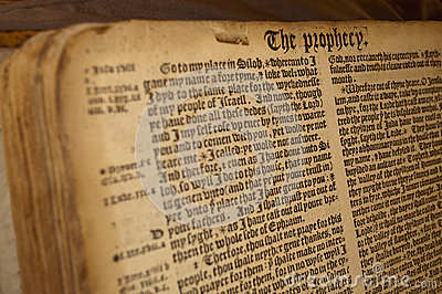 Prophecy manuscript