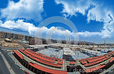Prophet s Mosque in Medina with blue sky