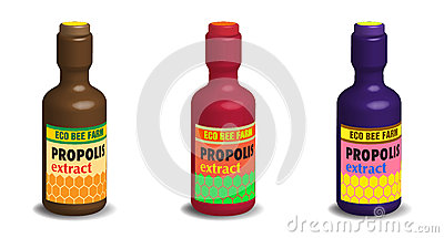 Propolis extract bottles