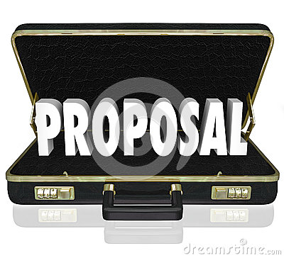 Proposal Sales Presentation Open Briefcase
